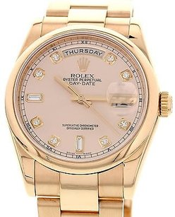 Rolex Mens Rolex Day-date 18k Rose Gold Watch 118205 Box Papers