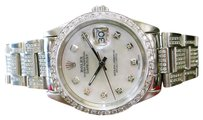 Rolex Mens Rolex Oyster Perpetual Datejust 36mm Diamonds Mother-of-pearl Stainless