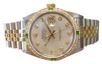 Rolex Mens Rolex Oyster Perpetual Datejust Diamonds Mother-of-pearl Dial Watch