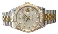 Rolex Mens Rolex Oyster Perpetual Datejust Diamonds Yellow Gold And Stainless Steel