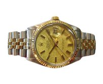 Rolex Mens Rolex Oyster Perpetual Datejust Gold Stainless