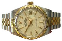 Rolex Mens Rolex Oyster Perpetual Datejust Yellow Gold Stainless Steel Jubilee Dial
