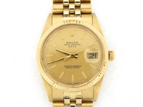 Rolex Mens Rolex Solid Yellow Gold Date Gold Stick 15037