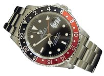 Rolex Mens Rolex Stainless Steel Gmt-master Ii Watch Oyster Coke Red Black 16710