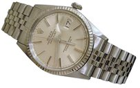 Rolex Mens Rolex Stainless Steel18k White Gold Datejust Jubilee W Silver Dial 16014