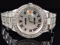 Rolex Mens Stainless Steel Rolex Date Model Oyster Mm Dial Diamond Watch With Ct
