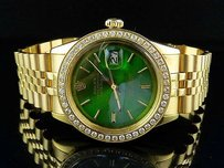 Rolex Mens Stainless Steel Rolex Datejust Jubilee Mm Gold Plated Diamond Watch Ct
