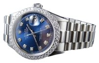 Rolex Mens Stainless Steel Rolex Datejust Presidential Mm Blue Dial Watch Ct