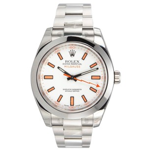 Rolex Milgauss 116400 Stainless Steel White Dial Men's Watch
