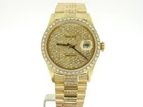 Rolex Pre Owned Mens Rolex Yellow Gold Datejust With A Gold Dial 16238