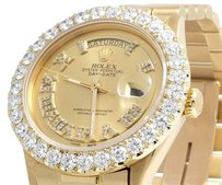 Rolex President 18K Yellow Gold 36MM Champagne Day-Date Diamond Watch 5.5 Ct