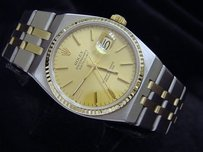 Rolex Rolex 14k Yellow Gold Stainless Steel Oysterquartz Datejust Champagne 17013