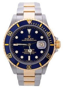Rolex Rolex 16613 Submariner Blue Dial 18k Gold Stainless Steel Automatic Mens Watch