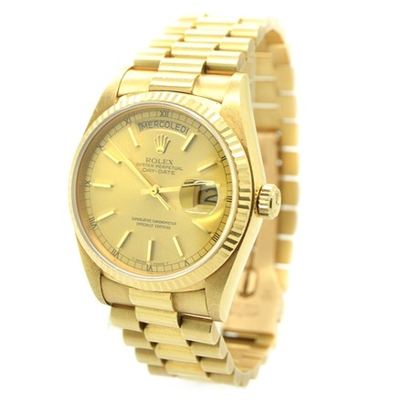 Rolex Rolex Day-Date 18K Yellow Gold Champagne Dial Men's Presidential Watch
