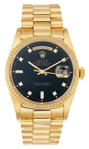 Rolex Rolex Day-date 18K Yellow Gold Custom Diamond Dial Men's Presidential Watch