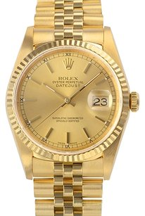 Rolex Rolex 18k Yellow Gold Datejust 16238