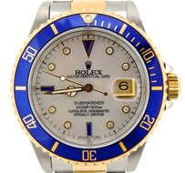 Rolex Rolex 2tone 18k Goldss Stainless Steel Submariner White Mop Diamond Blue Sub