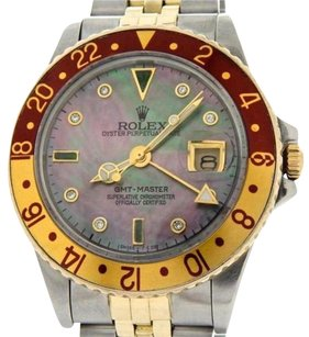 Rolex Rolex 2tone 18k Yellow Goldstainless Steel Gmt-master Root Beer Diamond 16753