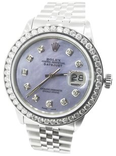 Rolex Rolex 36mm DateJust Lavender Mother of Pearl Dial Diamond Watch