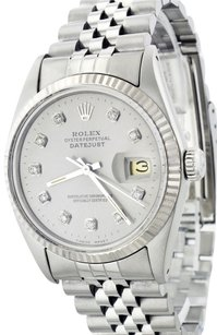 Rolex Rolex 36mm Datejust Stainless Steel and White Gold Slate Grey Diamond Watch