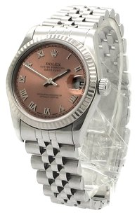 Rolex ROLEX DATEJUST 68274 STAINLESS STEEL SALMON DIAL UNISEX WATCH