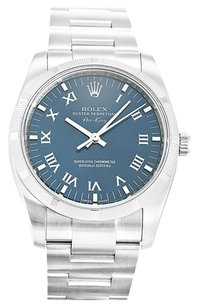 Rolex ROLEX AIR-KING 114210 STAINLESS STEEL BLUE DIAL MEN'S WATCH