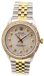 Rolex Rolex Air-King 5501 MOP diamond dial 1ct diamond bezel unisex Watch