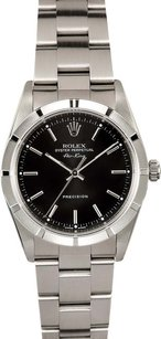 Rolex Rolex Air-King Stainless Steel Black Stick Dial Watch 14010