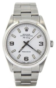 Rolex Rolex Air-King Stainless Steel White Arabic Dial Watch 14000