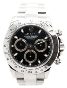 Rolex Rolex Cosmograph Daytona Stainless Steel Black Index Dial Men's Watch