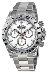 Rolex Rolex Cosmograph Daytona White Index Dial Oyster Bracelet Men's Watch 116520