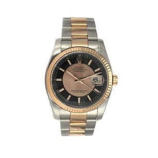 Rolex Rolex Date Just 36mm - Stainless Steel And Pink Gold - Box And Papers -116231