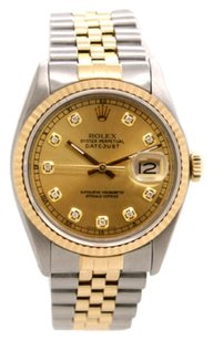Rolex Rolex DateJust 18K Yellow Gold and Steel Custom Diamond Men's Watch