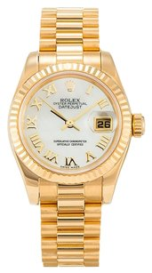 Rolex ROLEX DATEJUST 179178 18K YELLOW GOLD LADIES PRESIDENTIAL WATCH