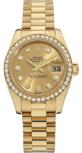 Rolex Rolex Datejust 18K Custom Diamond bezel Ladies Presidential Watch