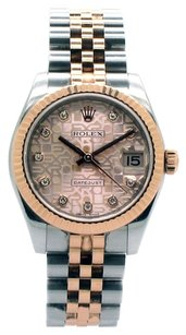 Rolex Rolex 178271 Datejust 18K Rose Gold and Steel Original Jubilee Diamond DIal Unisex Watch