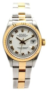 Rolex Rolex Datejust 18K Yellow Gold and Stainless Steel White Roman Dial Ladies Watch