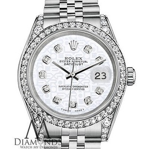 Rolex Rolex Datejust 36mm Stainless Steel White Jubilee Diamond Dial Watch
