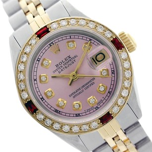 Rolex Rolex Datejust 69173 Pink Diamond and Ruby Ladies Two-tone 26mm Watch