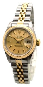 Rolex Rolex DateJust 69173 Stainless Steel and 18K Yellow Gold Ladies Watch No Holes