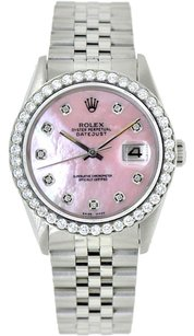 Rolex Rolex Datejust Custom Diamond Pink MOP Dial Men's Watch
