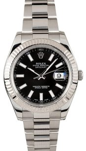 Rolex Rolex DateJust II Black Luminous Stick Dial 116334
