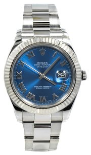 Rolex Rolex DateJust II Blue Roma Dial Stainless Steel Watch 116334