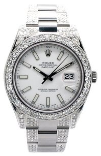 Rolex Rolex Datejust II Stainless Steel Custom Diamond