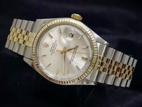 Rolex Rolex Datejust Mens 2tone 14k Gold Stainless Steel Jubilee W Silver Dial 1601