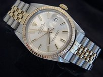 Rolex Rolex Datejust Mens 2tone 14k Gold Stainless Steel Silver Jubilee Band 1601