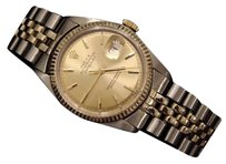 Rolex Rolex Datejust Mens 2tone 14k Gold Stainless Steel Watch Oval Jubilee Band 1601