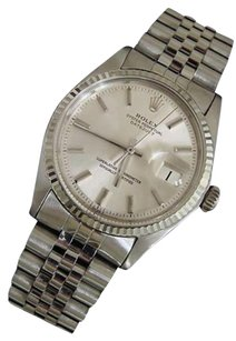 Rolex Rolex Datejust Mens Ss Stainless Steel 18k White Gold Jubilee Silver Dial 1601