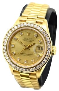 Rolex Rolex DateJust Original diamond dial & 1.20ct custom diamond bezel President Ladies Watch