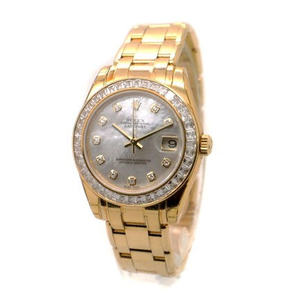 Rolex Rolex DateJust Special Edition 81308 18K Gold Diamond MOP Dial Men's Watch